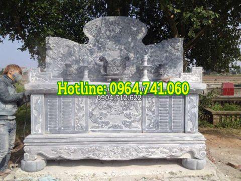 Mẫu bàn lễ bằng đá xanh Ninh Bình
