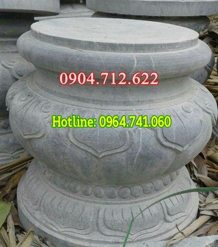Chân cột tròn bằng đá
